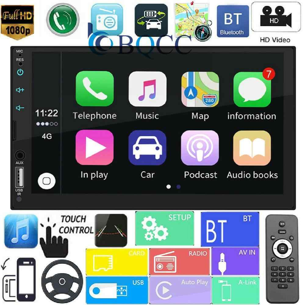 7 ''Full Screen Touch Autoradio MP5 Speler Ondersteuning Real Apple Carplay voor Iphone Bluetooth HD Video Play Reverse camera USB AUX