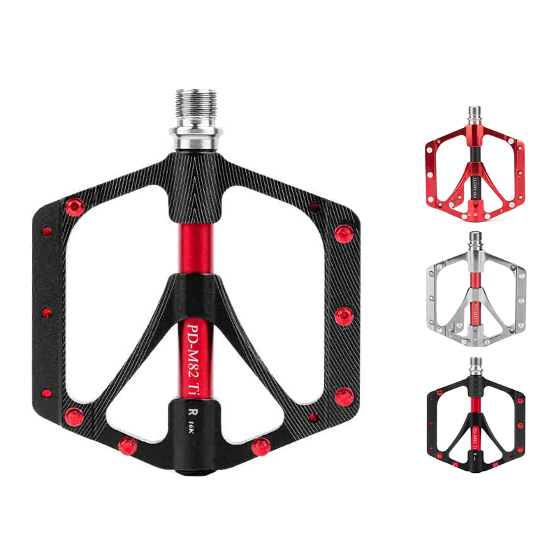 Ultra Light Titanium CNC Spindle Ti Axle MTB BMX Bike Cycling Platform Pedals