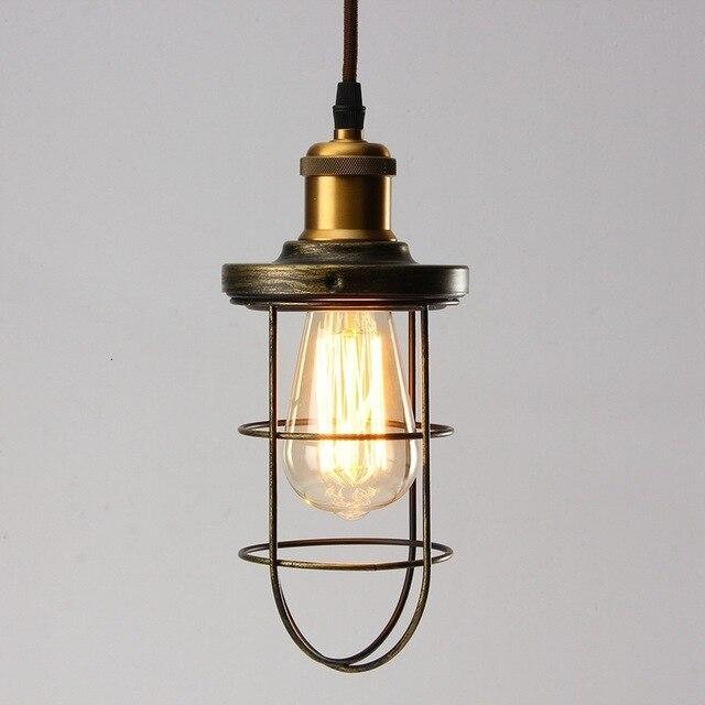 Винтажная Люстра для прихожей, железный подвесной светильник, светодиодный светильник для жилых помещений, кухонная люстра - 5