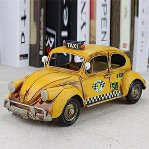 32x14x14 см, креативные подарки для жука, такси, автомобиля, модельные металлические изделия, ретро, железная городская служба, автомобиль, моде...