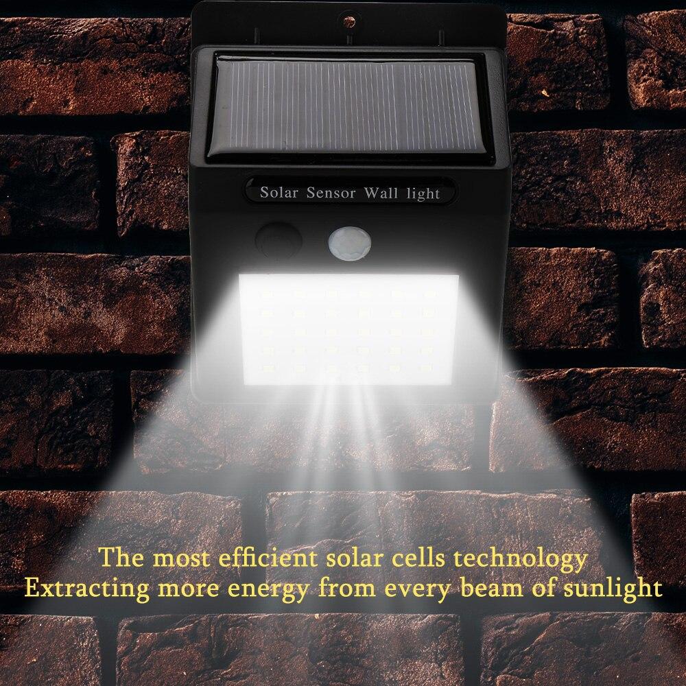 LED Solar Light Outdoor Solar Lamp PIR Motion Sensor Wall Light Waterproof Solar Powered Sunlight for Garden Decoration Outdoor|Solar Lamps| |  - title=