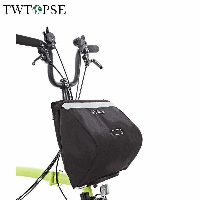 TWTOPSE 16L Water Resistant Bike Bicycle Bag Pannier For Brompton Basket Bag Great Capacity Reflective Cycling Bicycle Accessory