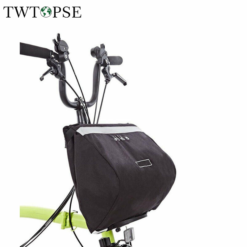 TWTOPSE 16L Water Resistant Bike Bicycle Bag Pannier For Brompton Basket Bag Great Capacity Reflective Cycling Bicycle Accessory brompton stickers