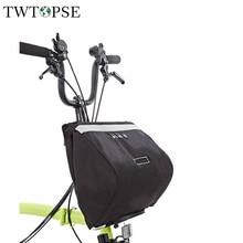 Bolsa de bicicleta resistente al agua TWTOPSE 16L, bolsa de baloncesto para bicicleta Brompton, gran capacidad, accesorio de bicicleta de ciclismo reflectante