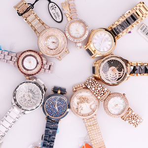 SALE!!! Discount Davena Ceramic Crystal Rhinestones Lady Men's Women's Watch Japan Mov't Hours Metal Bracelet Girl's Gift No Box(China)