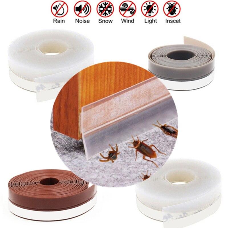 1M door bottom seal strip stopper burlete puerta casa weather stripping sliders soundproof tape Window gap Sealer Protector