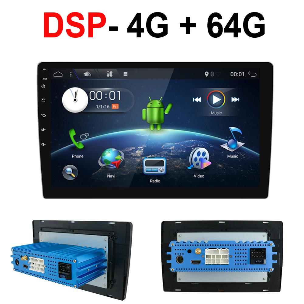 1 Din Android 9.0 Octa Core PX6 Auto Radio Stereo Gps Navi Audio Video Speler Unit Pc Wifi Bt Hdmi amp 7851 Obd Dab + Swc 4G + 64G title=