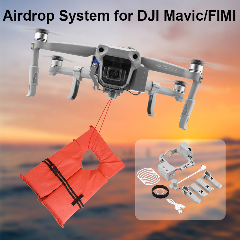 Airdrop System for DJI Mavic air 2 Mavic 2 Pro Drone Fishing Bait Gift Rescue Remote Throw Thrower for mavic air2 Accessories