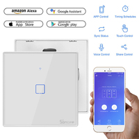 SONOFF The WiFi Smart Switches With 1 Gangs Are Divided Into T2 WiFi Wall Switches AC 100 240V For Alexa Google Home Drop Ship Home Automation Modules     -