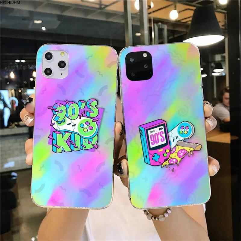 Aesthetic 90s kids Accessories Black TPU Soft Rubber Phone Cover for iPhone 11 pro XS MAX 8 7 6 6S Plus X 5S SE 2020 XR cover