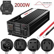 2000W Pure Sinus Solar Power Inverter Dc 12V 24V 48V Naar Ac 110V 220V Digitale Display