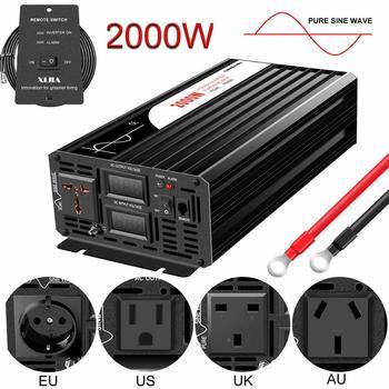 2000W pure sine wave solar power inverter DC 12V 24V 48V  to AC 110V 220V digital display 1500w pure sine wave power inverter 12v 220v dc ac inverter solar 240v