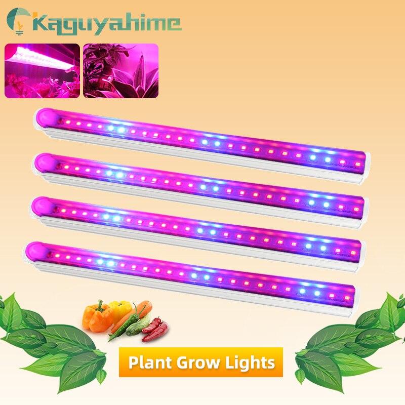 Kaguyahime 1/2/4pcs 6W 220V T5 Tube Led Grow Light Full Spectrum 30cm 110V 220V Plant Lamp Growth Hydroponic Plant Tent Box