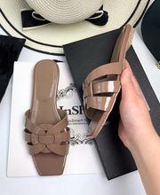 Удобная Пляжная обувь с открытым носком; Женские черные шлепанцы