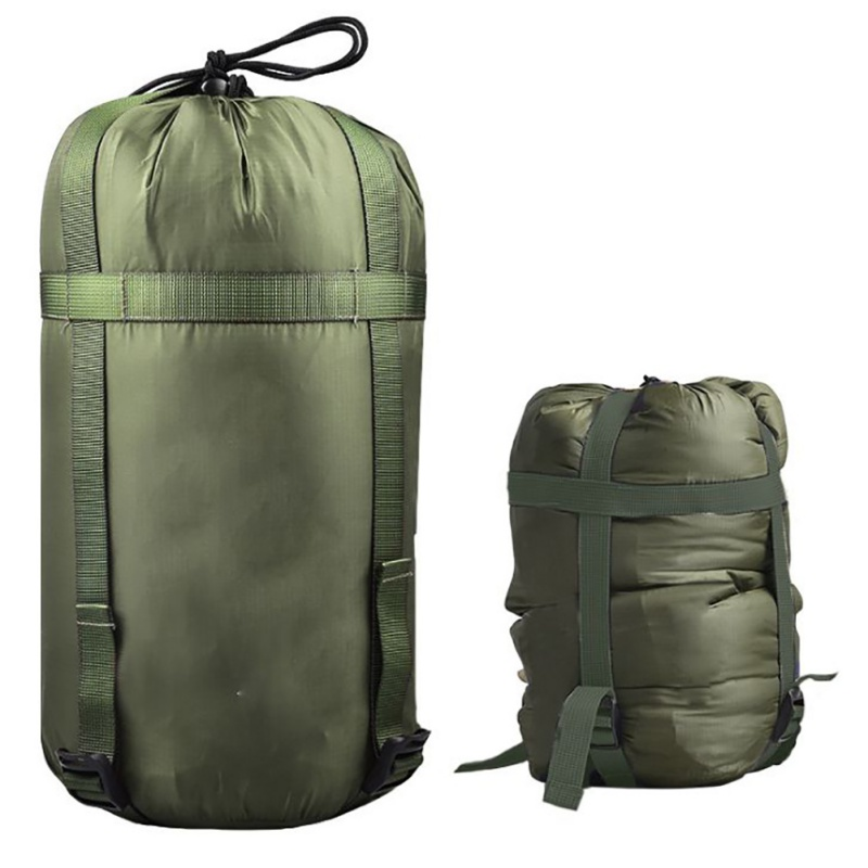 Outdoor Camping Sleeping Bag Compression Sack Clothing Sundries Drawstring Storage Pouch(Not included Sleeping Bag)