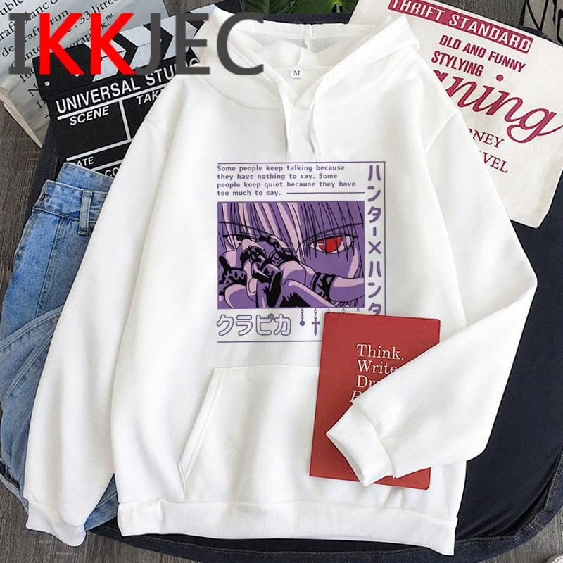 Hxh Hunter x Hunter Hisoka Kurapika Killua Zoldyck Devil Eye hoodies men anime printed grunge plus size men clothing plus size 2
