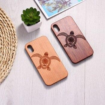 Sea Turtle Wood Phone Case ( iPhone 6, 6S, 6Plus, 7, 7Plus, 8, 8Plus, XR, X, XS Max ,11 Pro Max) 9