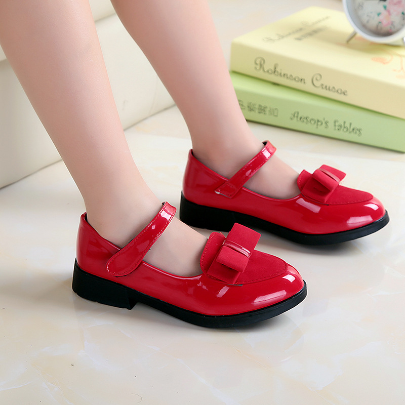 Baby Girl Sandals Leather Leisure Toddler Kids Shoes Sandals Fashion Leisure Girls Sneakers Bow-Knot Child Princess Flat Shoes