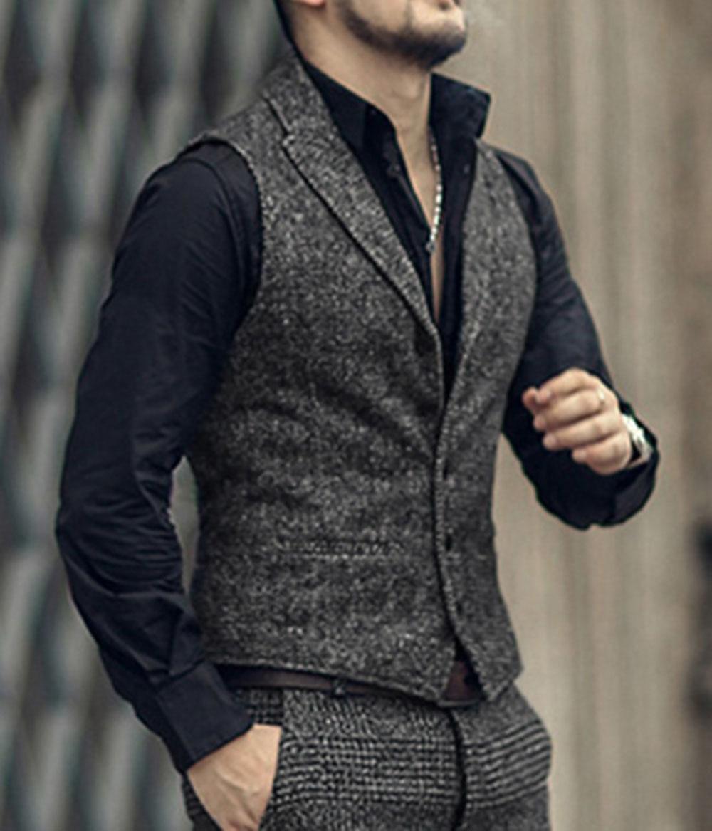 Mens-Suit-Vest-Lapel-V-Neck-Wool-Herringbone-Casual-Formal-Business-Vest-Waistcoat-Groomman-For-Wedding (2)