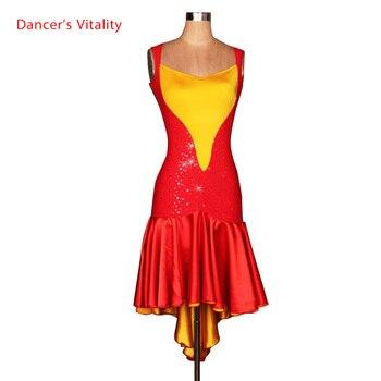 Latin dance costume Summer Sleeveless Highlights latin dance dress for women latin dance competition costume dresses