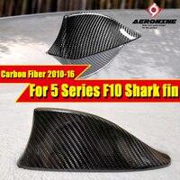 F10 Carbon Fiber Shark Fin Car Shark Antenna Signal For BMW 5 series 520i 525i 528i 530i 535i 550i Antenna Cover Shark Fin 10 16