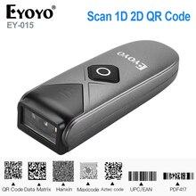 Eyoyo EY 015ミニバーコードスキャナusb有線/bluetooth/2.4グラムワイヤレス1D 2D qr PDF417バーコードipad iphone androidタブレットpc