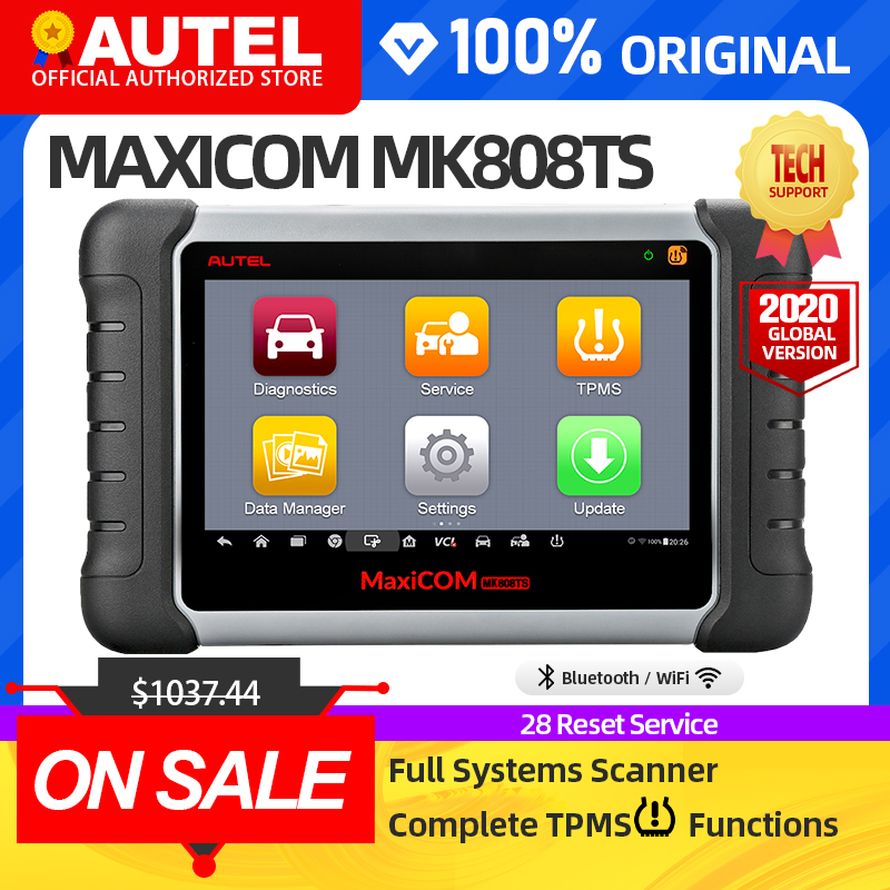 AUTEL MaxiCOM MK808TS TPMS automotive diagnostic tool TPMS programming tool tire pressure tool obd2 scanner pk mp808ts mk808bt|Code Readers & Scan Tools| - AliExpress