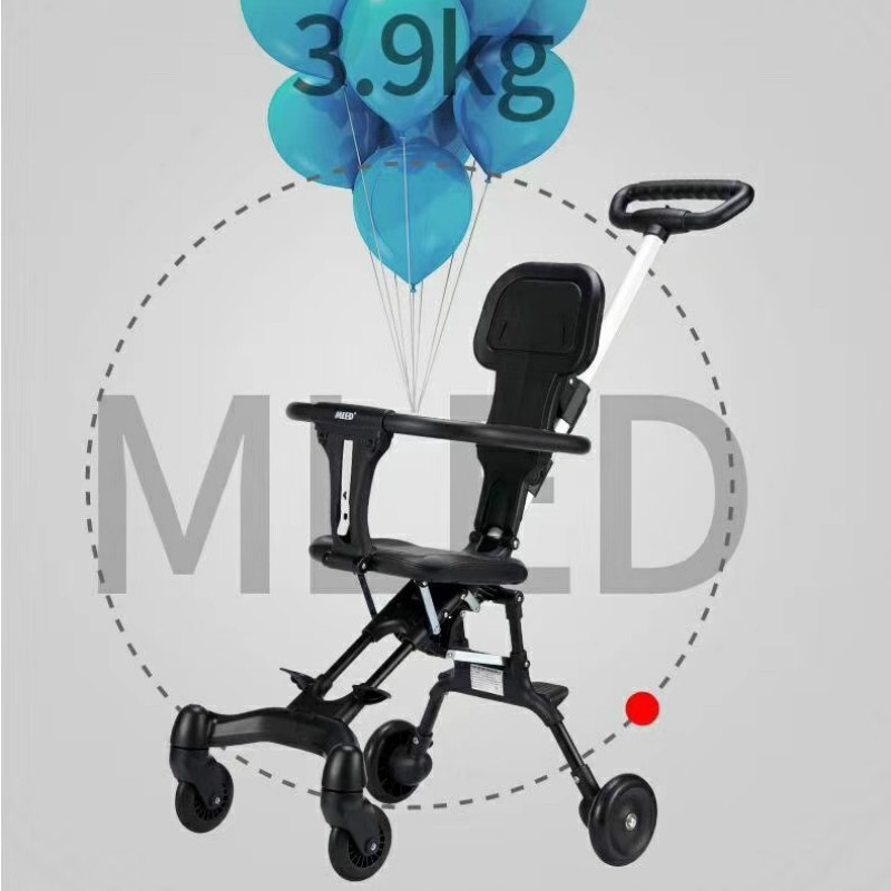 Portable Carriage Lightweight 3.9KG Baby Walking Tool Baby Four-Wheeled Cart Artifact Baby Stroller Foldable Dolly
