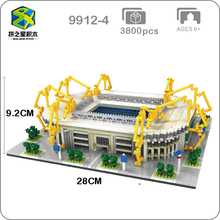 BS Borussia Dortmund Football Club Signal Iduna Park Stadium 3D Model Mini Diamon Building Small Blocks Toy for Children no Box spvgg greither fürth borussia dortmund dfb pokal