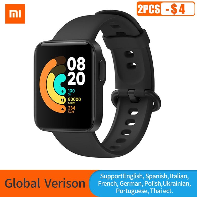 Глобальная версия Xiaomi Mi Watch Lite GPS фитнес-трекер монитор сердечного ритма спортивный браслет 1,4 дюйма Bluetooth 5,0 умные часы