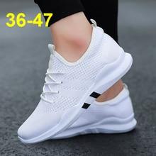 Zapatos informales de primavera y verano a la moda para Hombre, Zapatillas de deporte transpirables con cordones para Hombre, Zapatillas para Hombre de talla grande 35-47