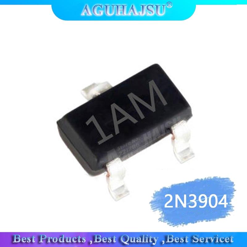 100PCS MMBT3904 SOT23 3904 SOT 2N3904 SMD SOT-23 1AM new NPN 0.2A 40V 1