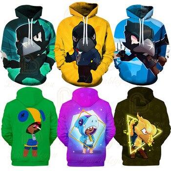 Leon Children's Wear Kids Hoodies Shooting Game 3d Hoodie Sweatshirt Boys Girls Harajuku Long Sleeve Jacket Coat Teen Clothes