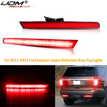 (2) estilo europeo conductor/pasajero partes LED parachoques reflectores luces antiniebla traseras para 2011-2015 Ford Explorer