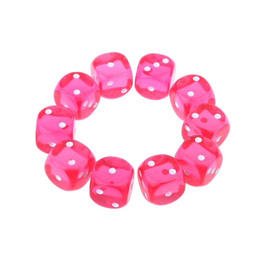 10pcs/set 16mm D3 Six Sided Dices Beads For Dungeons & Dragon D&D RPG Poly Desktop Table Playing Games