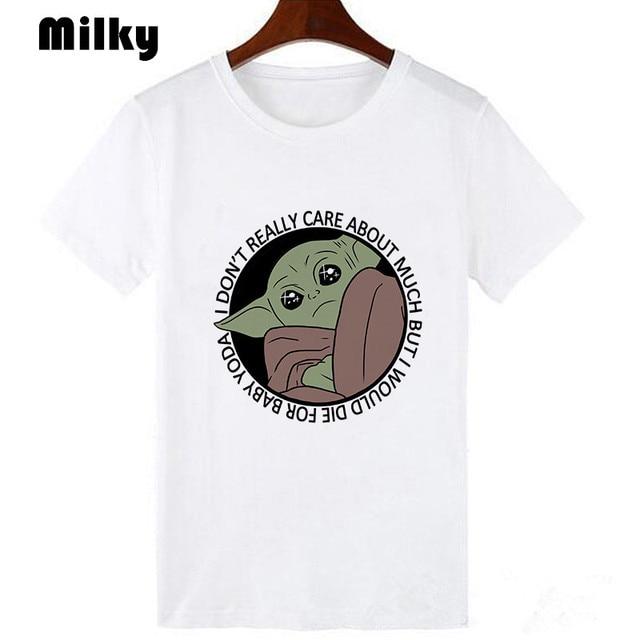 Star Wars bébé Yoda Lilo & point offres spéciales femmes T-Shirt mode lenfant Mandalorian surdimensionné t-shirts à manches courtes Harajuku