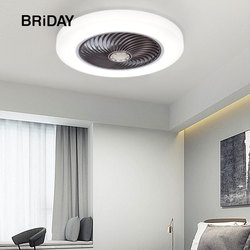 Ventilateurs de ventilateur de plafond intelligents avec lumières télécommande chambre décor ventilateur lampe 52cm air lames invisibles rétractable silencieux