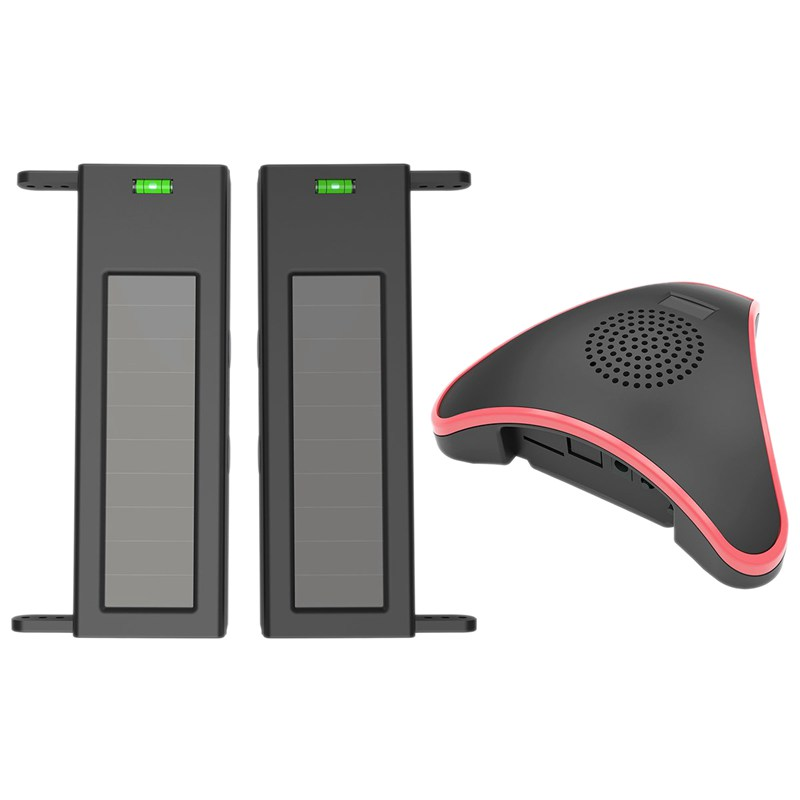 Solar Wireless Driveway Alarm System- 1/4 Mile Long Transmission Range- 190 Feet Wide Sensor Range- No Wiring No Need Replace Ba