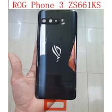 Original New For Asus ROG phone 3 ZS661KL Back Battery Cover Door Rear Glass Housing Case For Asus ZS661KL I003D Battery Cover