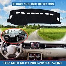 Samochód wnętrze deska rozdzielcza pokrywa augusta burbona Cape dla Audi A8 D3 2003-2010 4E S-line Dashmat osłona przeciwsłoneczna osłona na Pad mata na deskę rozdzielczą