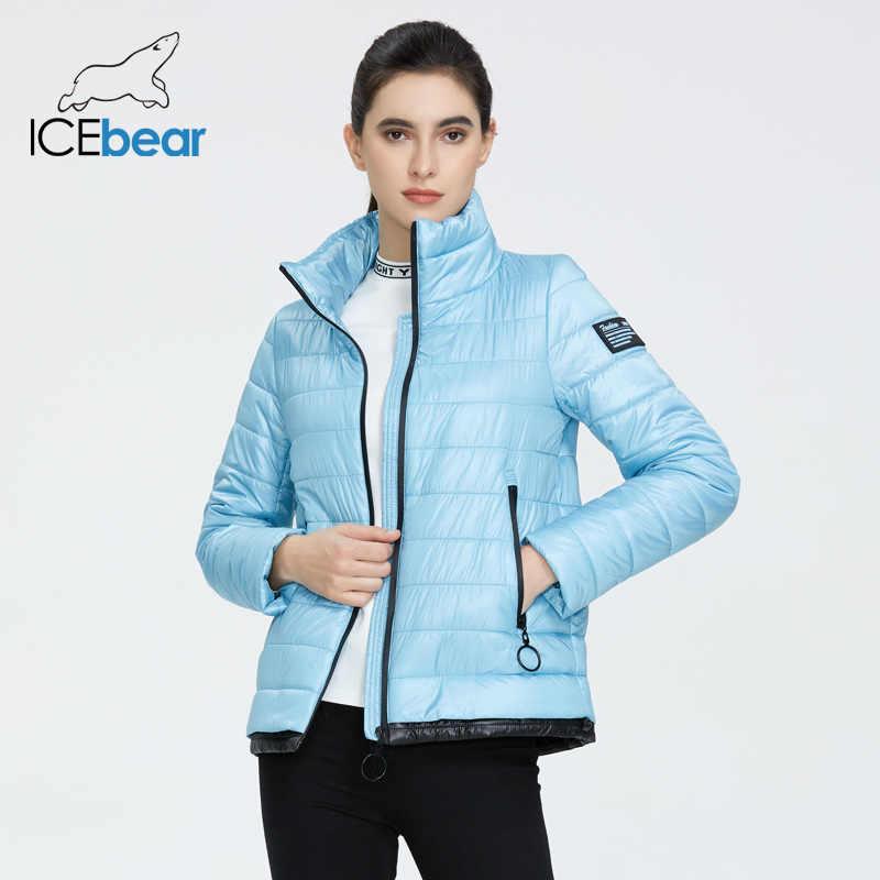 ICEbear 2020 여성 봄 재킷 고품질 짧은 코트 따뜻한 여성 의류 패션 캐주얼 의류 GWC20073I