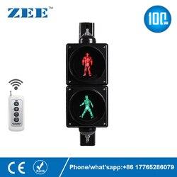 Fernbedienung 4 zoll 100mm LED Verkehrs Licht Fußgänger Verkehrs Signal Licht Rot Grün Mann Signale Fußgänger Licht Lampe