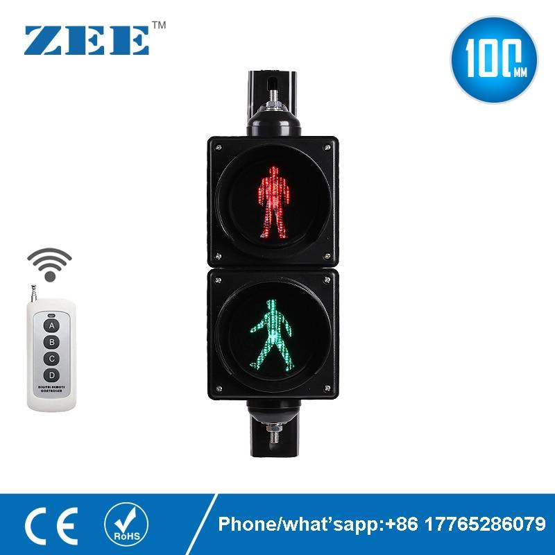 Remote Control 4 Inches 100mm LED Traffic Light Pedestrian Traffic Signal Light Red Green Man Signals Pedestrians Light Lamp