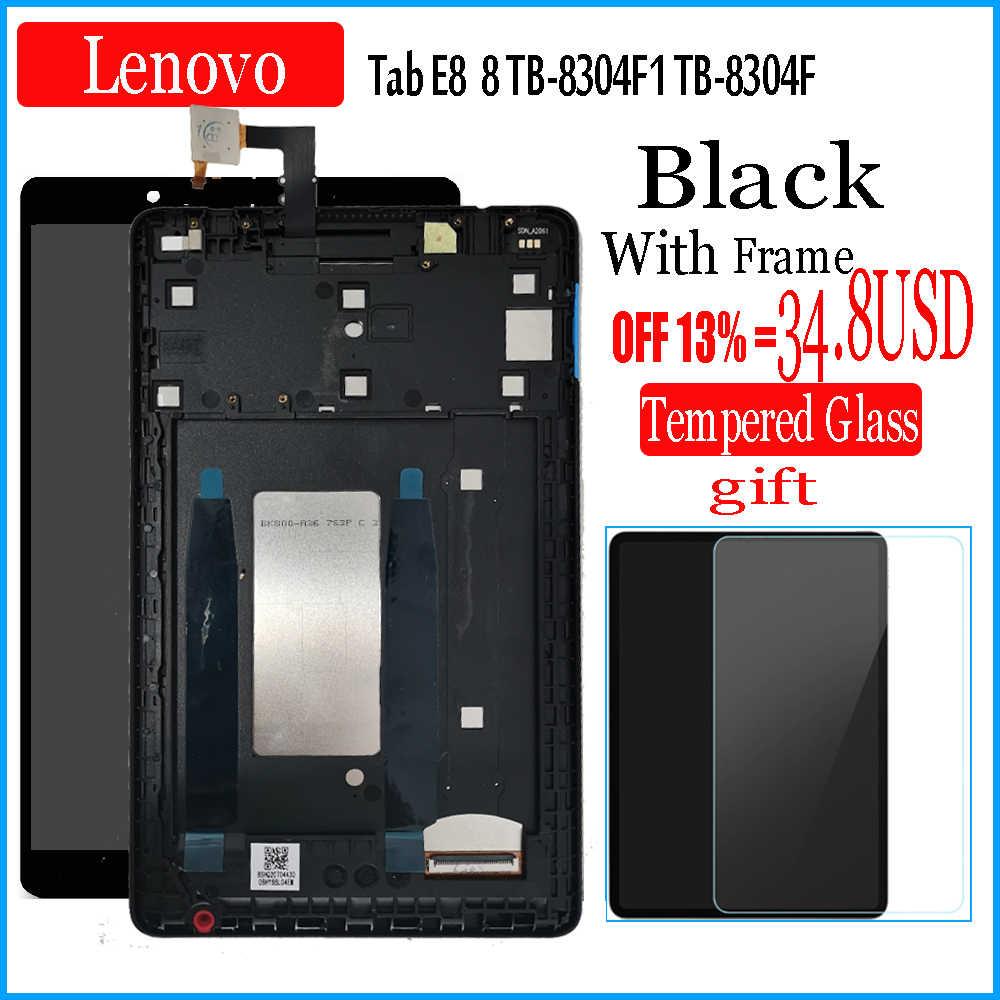 """جديد 8 """"بوصة لينوفو تاب E8 8 تيرا بايت-8304F1 TB-8304F TB 8304 LCD عرض شاشة تعمل باللمس محول الأرقام زجاج كامل الجمعية اللوحي"""