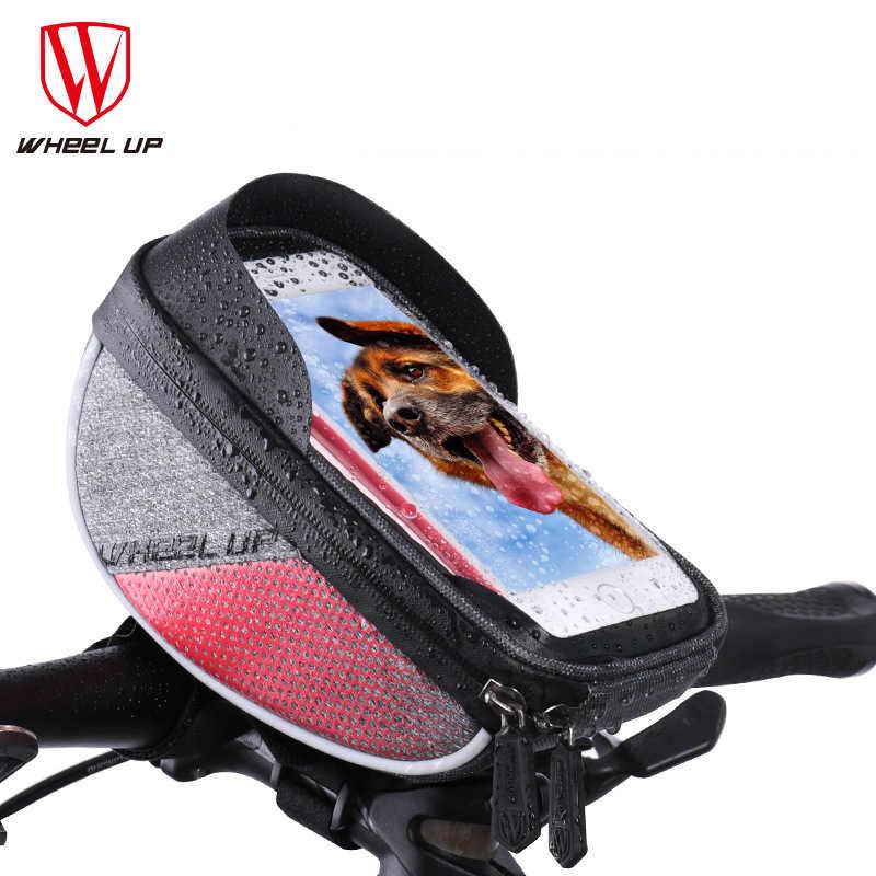 Bolso de bicicleta de montaña impermeable, bolso de teléfono para manillar de bicicleta frontal, impermeable, GPS, bolsa de ciclismo, accesorios para bicicleta