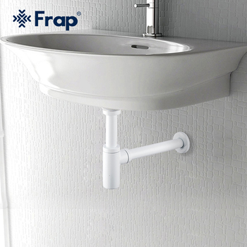 Frap White  Basin Pop Up Drain Stainless Steel Bottle Trap Bathroom Sink Siphon Drains with Kit F82-6 - discount item  43% OFF Bathroom Fixture