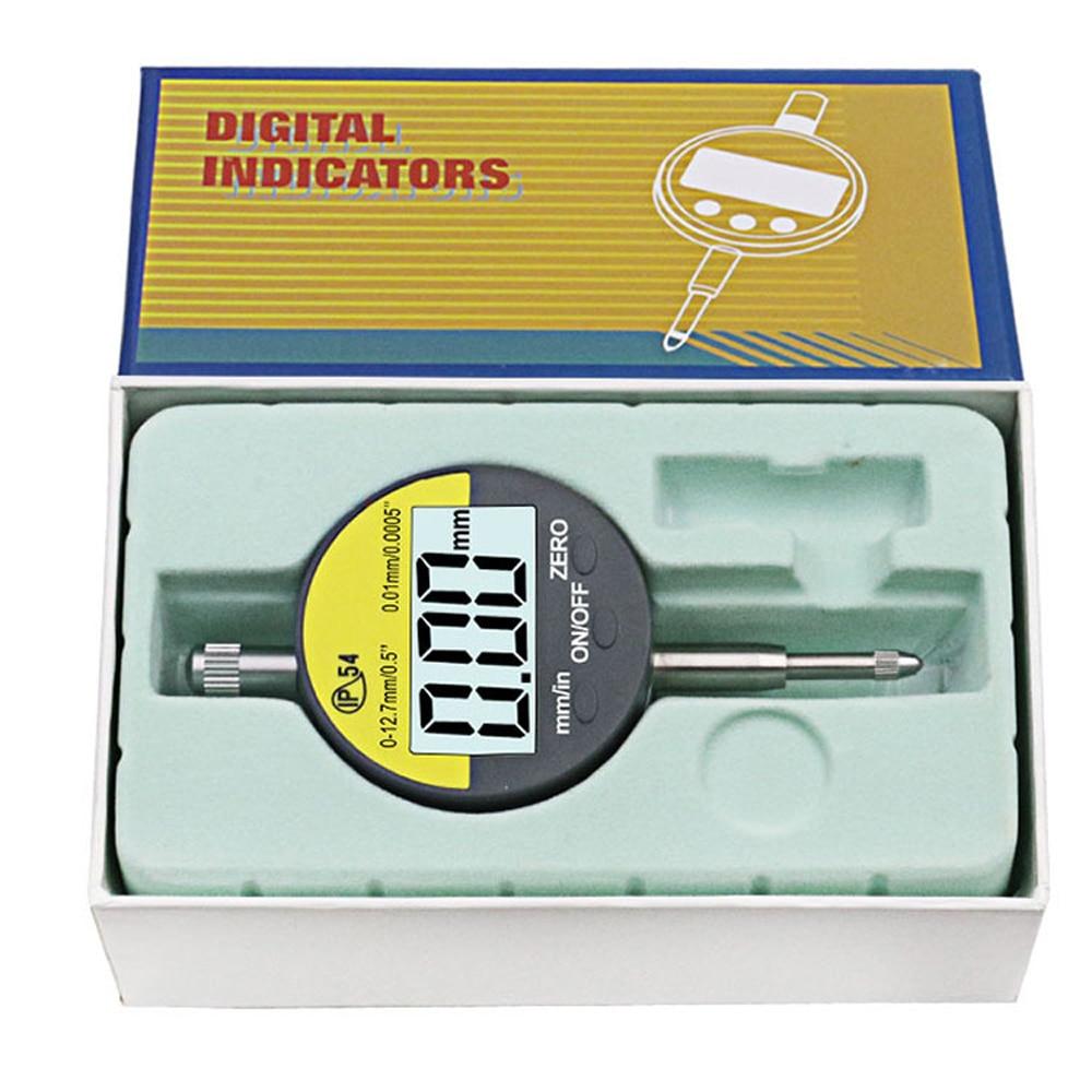 oilproof digital micrômetro métrico Polegada lcd dial indicador medidor
