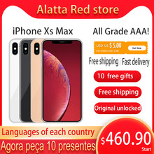 Genuin original desbloqueado apple iphone xs max usado 6.5 polegada face id nfc 64gb/256gb smartphone a12 celular iphonexsmax