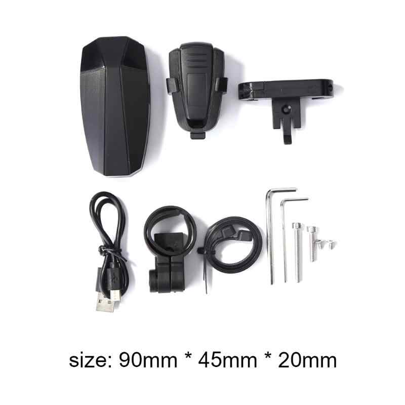 COB LED USB Rechargeable Cerdas Lampu Ekor MTB Belakang Remote Control Lampu Anti-Theft Sepeda Keamanan Alarm