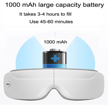 Pneumatic Vibration Portable Eye Massage Instrument Hot Eye Mask Eye Protector 1000mAH Power Mode USB Rated Power 4.5W
